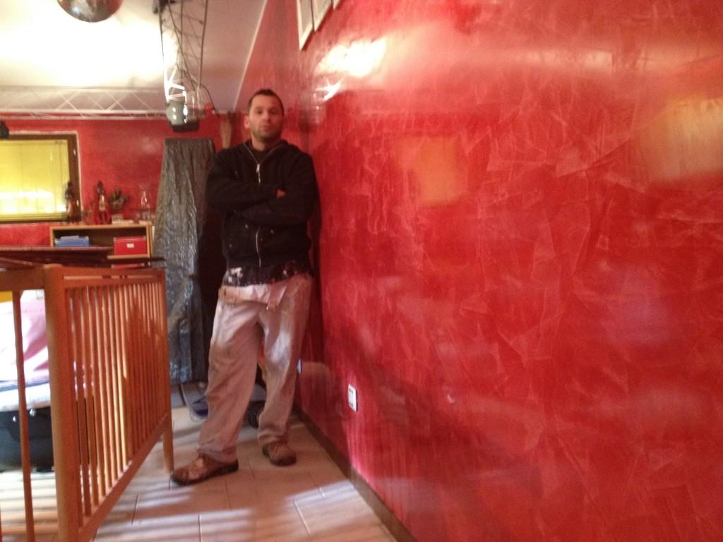Stucco veneziano rosso - Stucco veneziano bagno ...