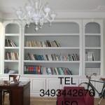 Libreria in cartongesso con stucchi decorativi, libreria in cartongesso Milano