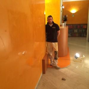 Imbiancatura a strisce con idropittura lavabile for Stucco veneziano milano